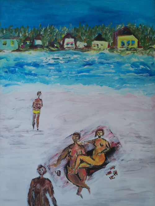 Leon Rooke. blue beach