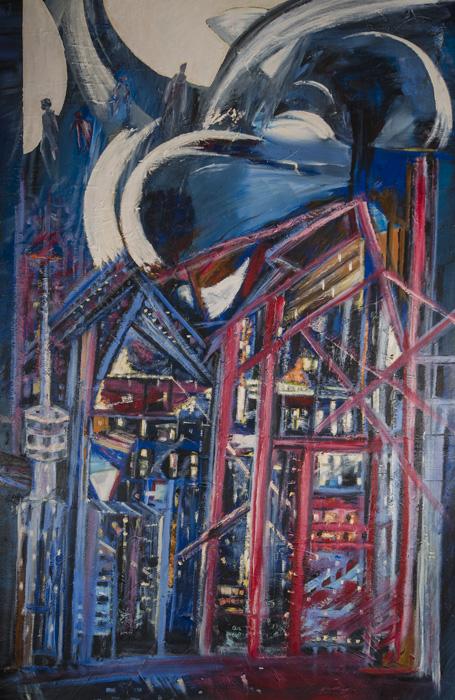 Leon Rooke. Painting - Cityscape