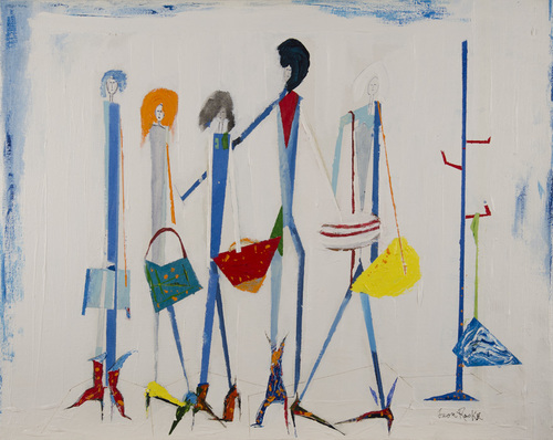 Leon Rooke. Painting - Fashionistas