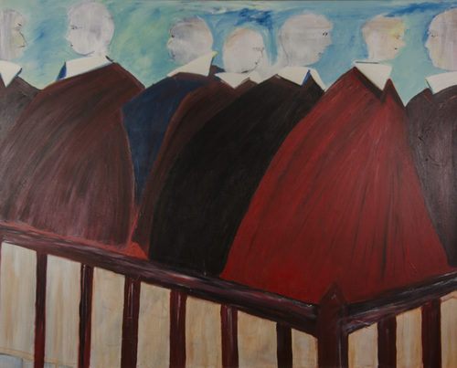 Leon Rooke. Painting - The Magistrates