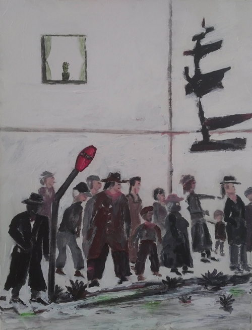 Leon Rooke. Painting - main street 2