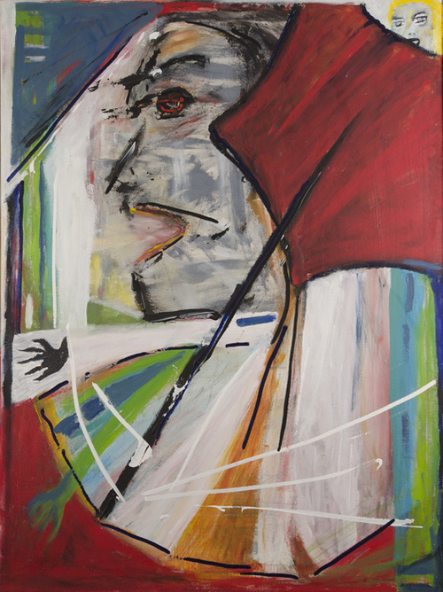 Leon Rooke. Painting - Untitled (Profile)
