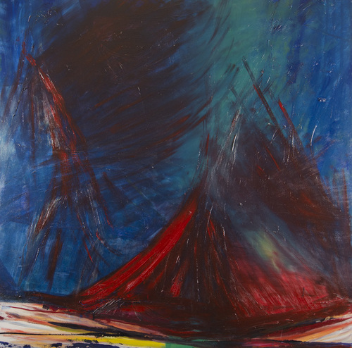 Leon Rooke. Painting - Untitled Vesuvius